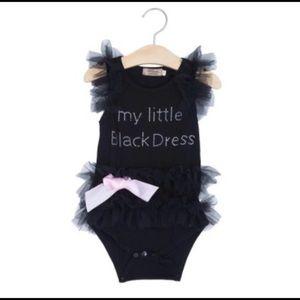 Black baby onesie